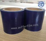 ガラス表面の保護のための青いフィルム全く最初から