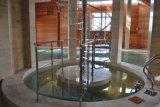Excelente design escadaria em espiral de vidro com aço inoxidável Raillling do Projeto