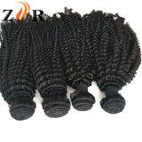 7A Bundels van het Menselijke Haar van de Krul Remy van de rang de Indische Maagdelijke Kroezige