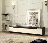 最新のデザインDrwers TVの立場が付いている現代大理石の金属の足