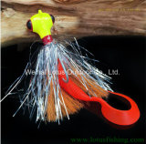 Novo design da cabeça do gabarito gabarito Lure Lure Isca de pesca Pesca Spinner Bait Lure