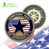 Военные вышивка Custom металлические значки для солдат по-участника в день