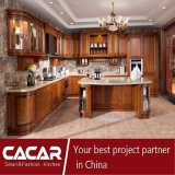 As vendas quentes livram o projeto e gabinetes de cozinha clássicos da madeira contínua