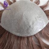 Vループ薄い皮の人間の毛髪のToupee (TP23)