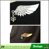 남자 Apparel Fashion Gold와 Silver Metal Eagle Lapel Pin