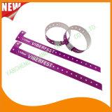 Faixas plásticas do bracelete do Wristband da identificação da impressão de cor cheia do entretenimento (E8070-20-22)