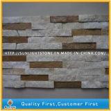 Jaune naturel/Rusty/Blanc/Noir de placage de pierre de toiture en ardoise de quartzite de panneau mural