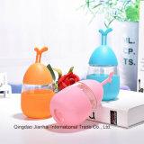 Bottiglia di acqua di vetro di nuova di stile del regalo figura dell'uovo con il manicotto
