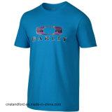 Camisetas del algodón de los hombres de lujo de la fuente de la fábrica con la impresión de encargo