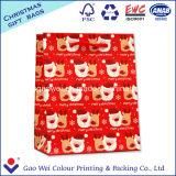 Мешок изготовленный на заказ с Рождеством Христовым корабля Kraft низкой стоимости белого бумажный для подарка