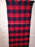 Cashmere 50% 50% Diamond de lã jacquard Xale Plaid