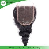 Modo de baixo preço de fecho de cabelo Virgem humanos brasileiros