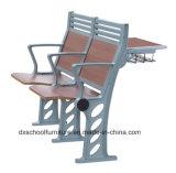 Escuela de aluminio de escritorio y silla para estudiantes universitarios