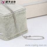 方法女性の銀製カラーロジウムによってめっきされるネックレスの宝石類(42297)