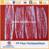 De synthetische Vezel Fibrillated Microfiber van het Netwerk van de Vezel pp