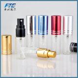 mini frasco de perfume 5ml de vidro colorido portátil com atomizador de alumínio