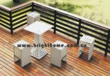 Outdoor tabourets de bar en osier 5PCS Bar Table et chaises en rotin Set