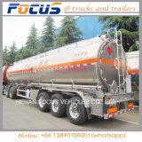 De fabrication de l'essence 45m3 de camion-citerne remorque en aluminium semi à vendre