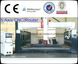 Macchina del router di CNC di asse di prezzi di fabbrica 5, router di CNC della scultura