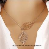 Feuille de la clavicule collier de la chaîne de vente chaude en alliage de style occidental colliers