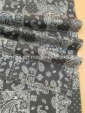 Законченный картина 100% хлопка ткани черным напечатанная Twill белая