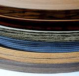 De decoratieve Houten Band van de Rand van pvc van de Kleur van de Korrel voor MDF Meubilair