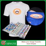 Etiqueta da transferência térmica de preço de grosso de Qingyi para o vestuário