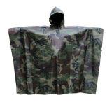 軍隊のカムフラージュのFoldableレインコートのポンチョをカスタマイズしなさい