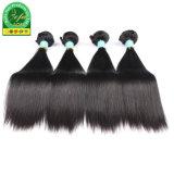 Melhor qualidade virgem cabelo preto natural trama de cabelo mongol
