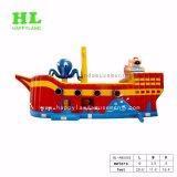Красный пиратской лодки надувные замок для детей