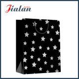 с горячими штемпелюя мешками подарка покупкы бумаги Kraft звезд черными
