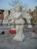 Monumento de mármore branco moderno da lápide do Headstone da qualidade excelente