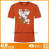 남자의 스포츠 형식 큰 가슴 인쇄 t-셔츠