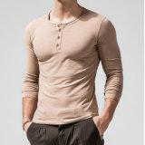 Mann-Baumwolleinzelne Jersey-Form-langer Hülsen-Shirt-Hersteller-Großverkauf