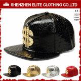 Hip Hop-Mann-kundenspezifische Firmenzeichen-Leder-Baseballmütze