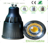 bulbo do diodo emissor de luz da ESPIGA de 7W Dimmable GU10
