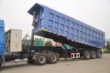 반 3개의 차축 석탄 돌 광산 수송 후방 덤프 트레일러