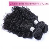 販売のCompetitveの毛のマレーシアの巻き毛の人間の毛髪の織り方の自然な黒