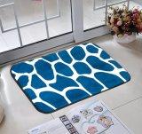 Non estampés tapis de bain décoratifs de peluche de mousse de mémoire de glissade