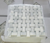 Vidrio y piedra de mármol y granito/espina de pez/cesta/Hexgon azulejos de mosaico para el cuarto de baño/pared
