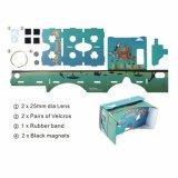 De hete Verkopende Doos van het Karton DIY 3D Google met de Aangepaste Glazen Vr van het Karton van Google van Af:drukken 3D voor PromotieGiften