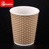 주문 로고에 의하여 인쇄되는 처분할 수 있는 커피 서류상 포장 컵
