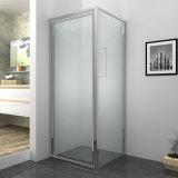 Cristal templado de la puerta de pivote Receptáculo de ducha