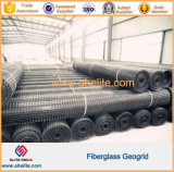 斜面の保護および道路工事のための高品質40X40knのガラス繊維Geogrid