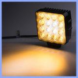 Beleuchtet 60 Grad geändertes Auto PFEILER LED Instandhaltungsarbeit-Licht der Projekt-Lampen-bernsteinfarbiges weißes Farben-48W LED