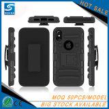 Clip ceinture dur militaire d'étui de téléphone mobile pour l'iPhone 10