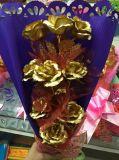 Oro mágico al por mayor Rose de la flor artificial 24K para el regalo de las tarjetas del día de San Valentín