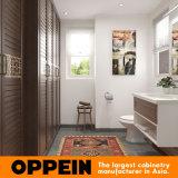 Oppein White Lacquer Gabinete de vaidade de banheiro com bacia (OP16-HS02BV1)