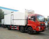 20t Dongfeng 8 roda o caminhão Refrigerated 3 eixos do camião