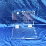 Caja de almacenamiento de acrílico con el logotipo de la pantalla de seda